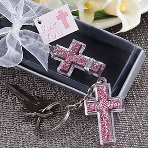 Pink Cross Key Chains imagerjs
