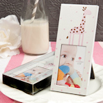 Pink Giraffe Design Baby Shower Frame Favor