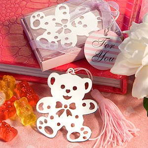 Lovable Pink Teddy Bear Bookmarks imagerjs