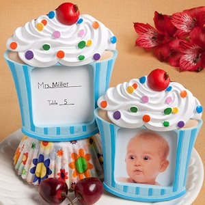 Blue Cupcake Place Card Holder/Picture Frames imagerjs