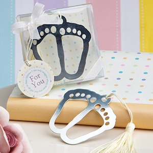 Baby Feet Themed Bookmark Favor imagerjs