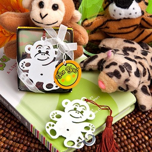 Jungle Critters Collection - Monkey Bookmarks imagerjs