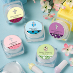 Personalized Christening Lip Balm Favors