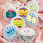 Baby Shower Personalized Mirror Compact Favors