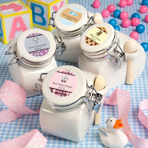 Personalized Baby Ceramic Jar Favors imagerjs