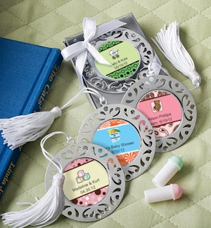 Personalized Damask Baby Bookmarks imagerjs