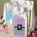 Personalized White Baptism Gift Boxes with Bow