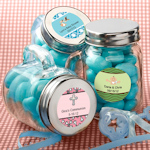 Personalized Baby Glass Mason Jars