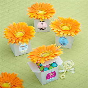 Personalized Orange Daisy Baby Boxes imagerjs