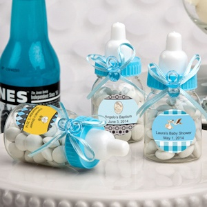 Design Your Own Collection Blue Baby Bottle Favors imagerjs