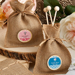 Design Your Own Burlap Baby Favor Bags