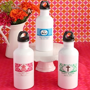 Personalized Metal Water Bottle Baby Shower Favors imagerjs