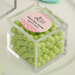 Personalized Acrylic Cubic Baby Shower Favor Box
