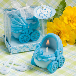 Baby Blue Carriage Candle Favors imagerjs