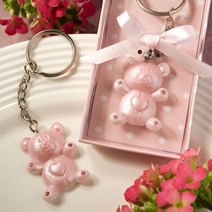 Sweet Pink Teddy Bear Keychain Favors imagerjs
