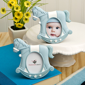Blue Rocking Horse Place Card/Photo Frames imagerjs