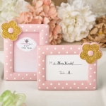 Pink and Gold Placecard Frame Favors