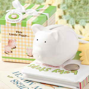 'This Little Piggy' Ceramic Bank Favors imagerjs