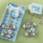 Adorable Blue Baby Elephant Design Key Chain