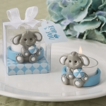 Cute Blue Baby Elephant Design Tea Light Holder