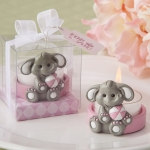 Cute Pink Baby Elephant Design Tea Light Holder