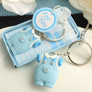 Cute Boy Bib-Overalls Key Chain Shower Favor imagerjs
