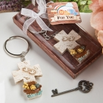 Noah's Ark Design Cross Key Chain Favors