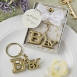 Luxurious Gold Baby Themed Key Chain Favor