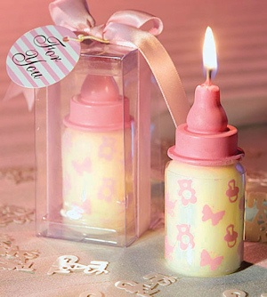 Pink Baby Bottle Candles imagerjs