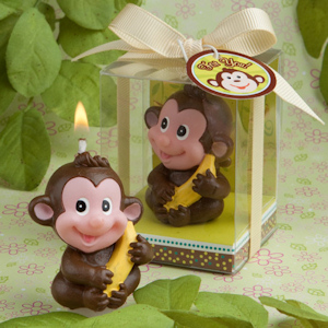 Adorable Monkey Candle Favors imagerjs