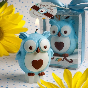 Adorable Blue Owl Candles imagerjs