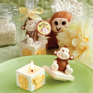 Monkey Topped Candle Favors imagerjs