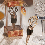 Fall Leaf Bottle Stopper Shower Favor
