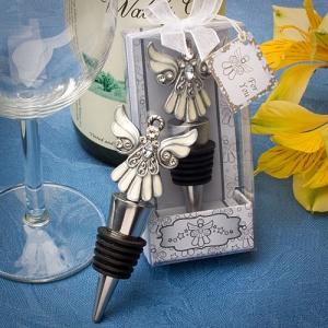 Baptism Angel Bottle Stopper Favors imagerjs