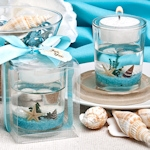 Beach Shell Baby Shower Candle Favors