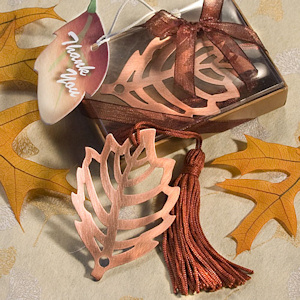 Fall Leaf Bookmark Baby Shower Favors imagerjs
