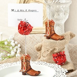 Little Cowboy Boot Shower Place Card Holders imagerjs