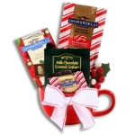 Ghirardelli Peppermint Gift Mug of Cocoa & Snacks