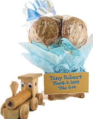 Wood Train Cookie Gift image