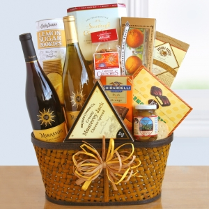 Sunshine and Wine Gourmet Gift Basket imagerjs