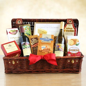 Wine Country Holiday Picnic Hamper Basket imagerjs
