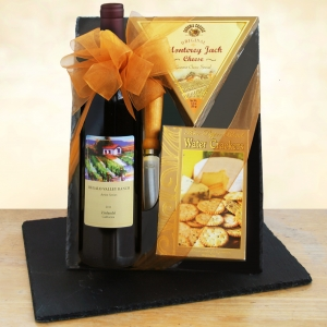 Zinfully Delicious Gourmet Cutting Board Wine Gift imagerjs