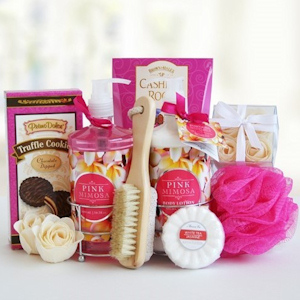 Mom's Pretty & Pink Mimosa Spa Gift imagerjs
