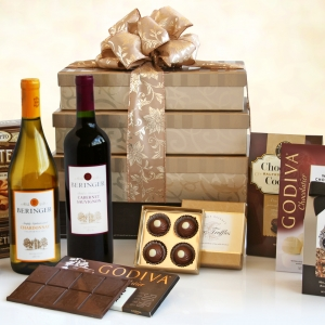 Holiday Wine & Chocolate Tower imagerjs