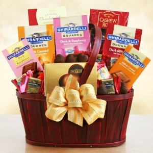 Classic Ghirardelli Chocolate Celebration Basket imagerjs
