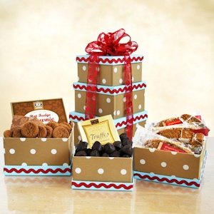 Gingerbread Wishes Holiday Gift Tower imagerjs