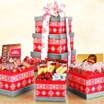 Alpine Delights Holiday Tower of Gift Boxes