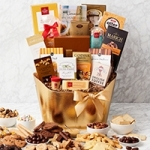 Golden Holiday Gourmet Food Gift Basket