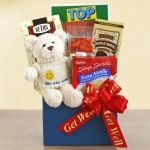 Feel Better Bear Get Well Gift Basket