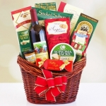 Holiday Red Gourmet Wine Basket